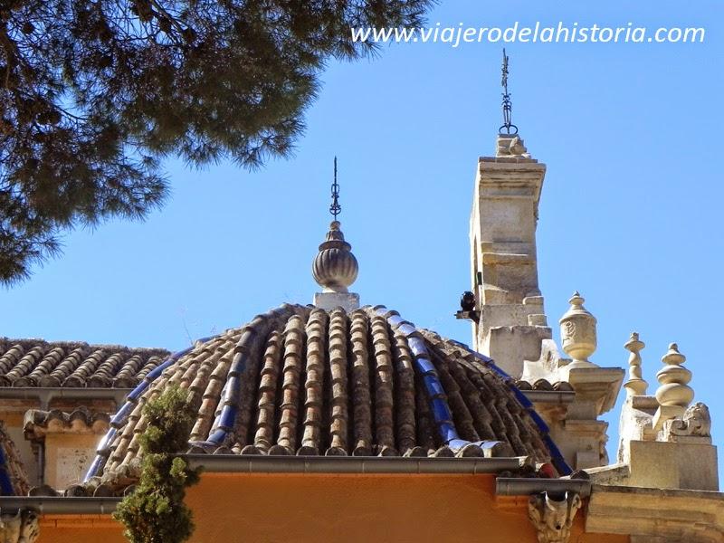 imagen detalle de la cúpula del Santuario de Biar, Alicante