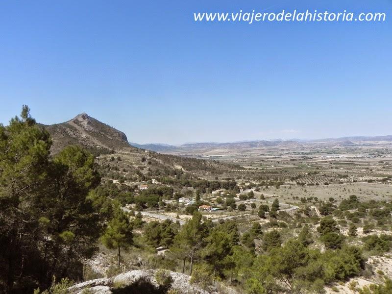 Imagen del punto de inicio, Peña Rubia, Villena, Alicante