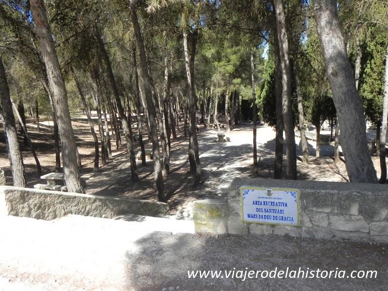 imagen área recreativa del Santuario, Biar, Alicante