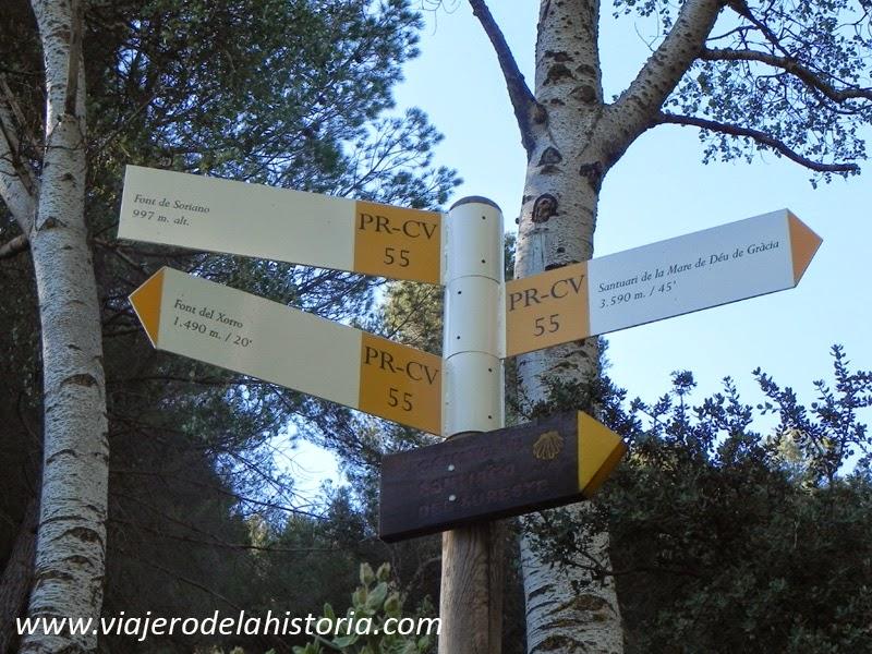 imagen dirección Fuente del Chorro, Biar, Alicante