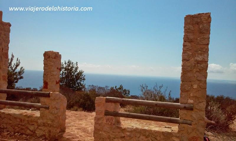 imagen del mirador de la cala Granadella, Jávea / Xàbia, Alicante