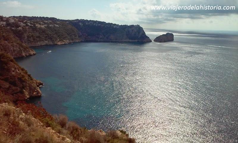imagen de la cala Granadella, Jávea / Xàbia, Alicante