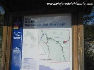 imagen punto de inicio de senda del barranco del Horcajo, Alto Tajo, Guadalajara