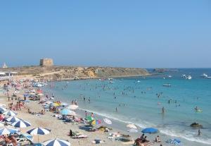 imagen de la playa de Tabarca