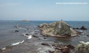 imagen del Illot de la Nau desde Punta Falcón, Tabarca
