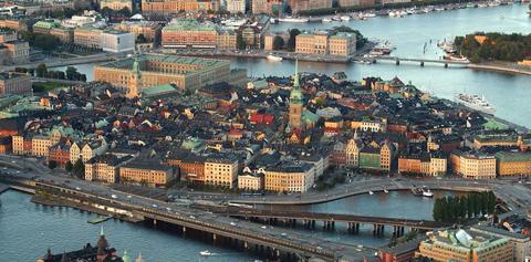 imagen aérea de Estocolmo, Suecia