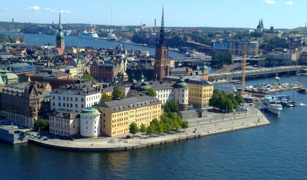 Imagen aérea de Gamla Stan, Estocolmo, Suecia