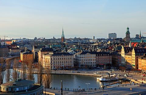 Imagen de Estocolmo desde el mirador de Katarinahissen, Slussen.