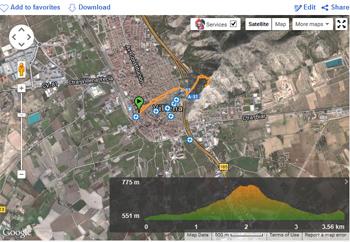 imagen de ruta de ascenso al castillo de Salvatierra, Villena, Alicante