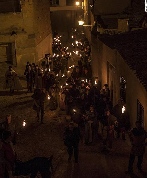 imagen de la Procesión de las Antorchas, Villena, Alicante