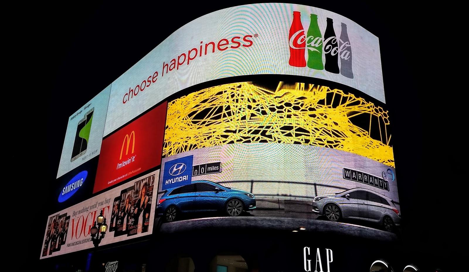 Imagen de Anuncios en Piccadilly Circus, Londres, Inglaterra